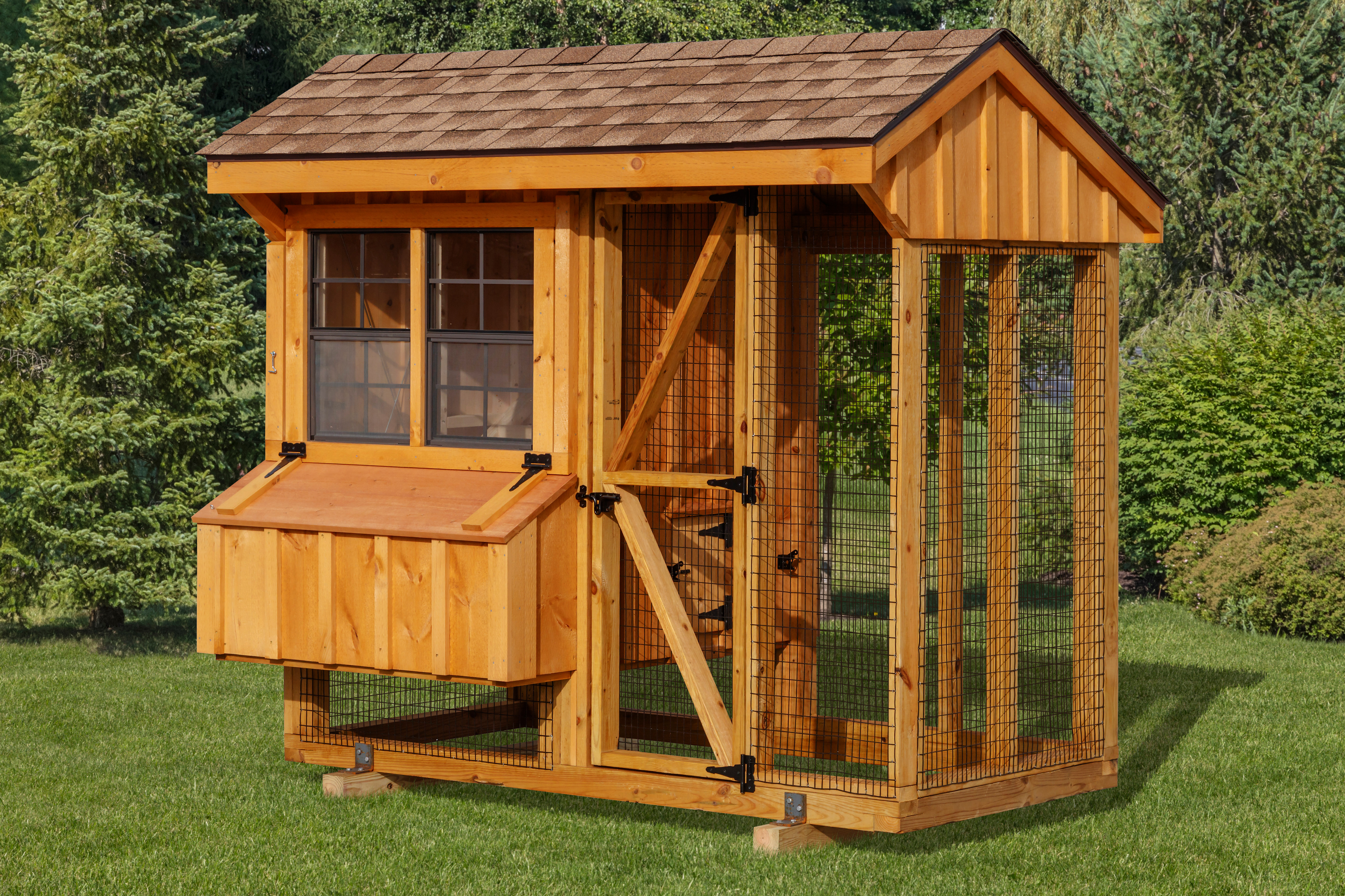 4x8 amish chicken coop sale