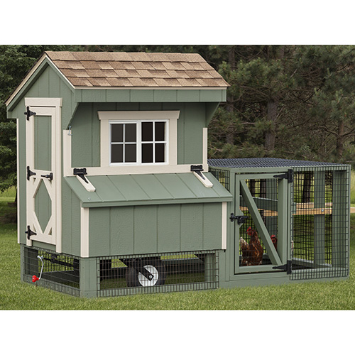 Combinations run and CHICKEN COOPS for 5 to 7 chickens
