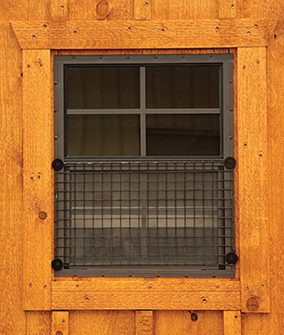safe chicken coops and safe hen houses - wire over windows